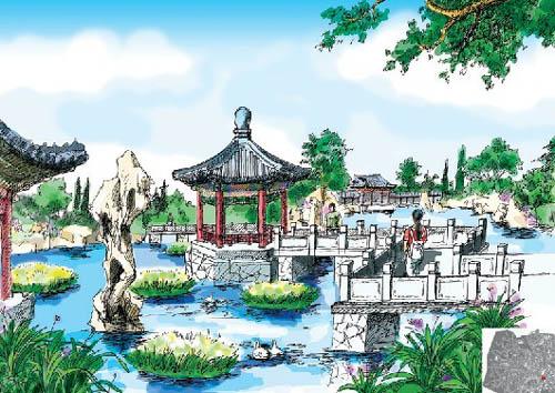 绿化校园设计手绘图
